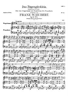 Das Zügenglöcklein, D.871 Op.80 No.2: Für Stimme und Klavier by Franz Schubert