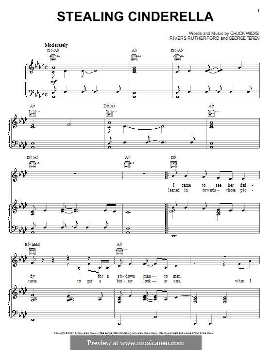 Stealing Cinderella: Für Stimme und Klavier (oder Gitarre) by George Teren, Rivers Rutherford