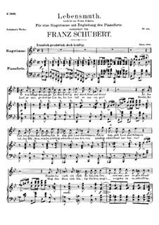 Lebensmuth, D.883: B-Dur by Franz Schubert
