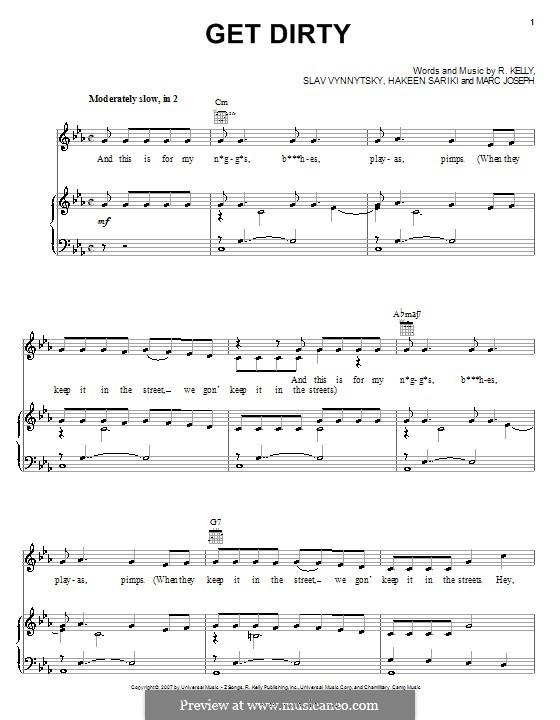 Get Dirty: Für Stimme und Klavier (oder Gitarre) by Hakeen Sariki, Marc Joseph, Slav Vynnytsky