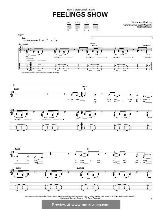 Feelings Show: Für Gitarre mit Tabulatur by Jason Reeves, Mikal Blue