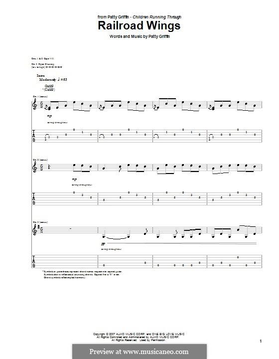 Railroad Wings: Für Gitarre mit Tabulatur by Patty Griffin