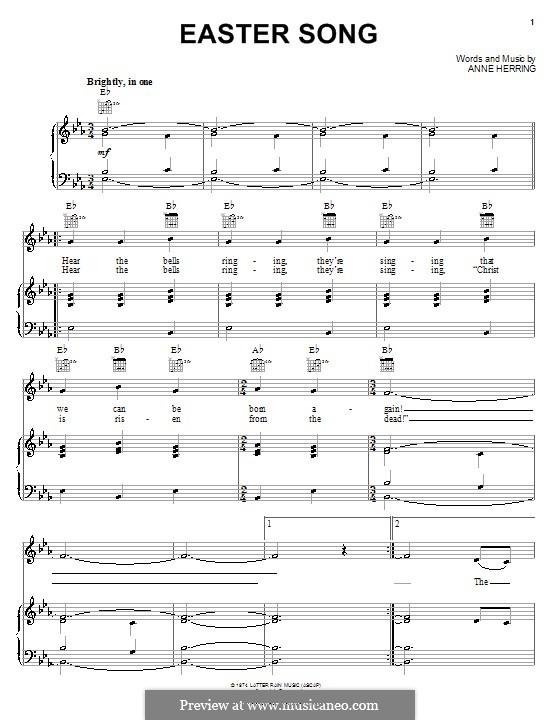 Easter Song: Für Stimme und Klavier (oder Gitarre) by Anne Herring