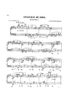 Souvenir de Cuba. Mazurka, Op.75: Mazurka 'Souvenir de Cuba' by Louis Moreau Gottschalk