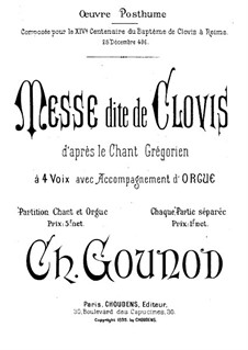 Messe dite de Clovis: Messe dite de Clovis by Charles Gounod