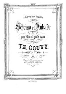 Scherzo für Klavier, vierhändig, Op.77: Scherzo für Klavier, vierhändig by Louis Théodore Gouvy