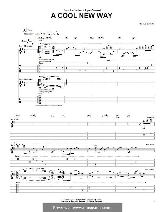 A Cool New Way: Für Gitarre mit Tabulatur by Joe Satriani