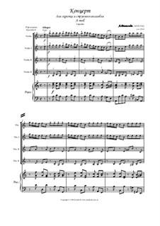 Konzert für Violine und Streicher Nr.6 in a-Moll, RV 356: Partitur, Stimmen by Antonio Vivaldi