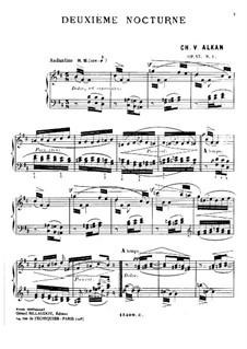 Zwei Nocturnes für Klavier, Op.57: Nocturne in h-Moll by Charles-Valentin Alkan