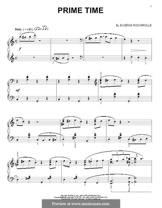 Prime Time: Für Klavier, vierhändig by Eugénie Rocherolle