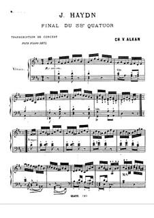 Streichquartett Nr.53 in D-Dur 'Lerche', Hob.III/63 Op.64 No.5: Teil IV. Version für Klavier by Joseph Haydn