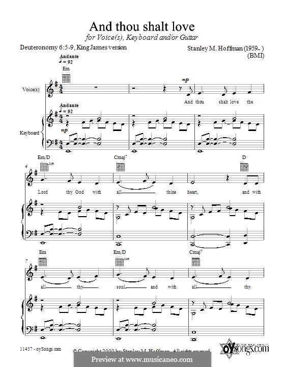 And Thou Shalt Love: Für Stimme und Klavier (oder Gitarre) by Stanley Hoffman