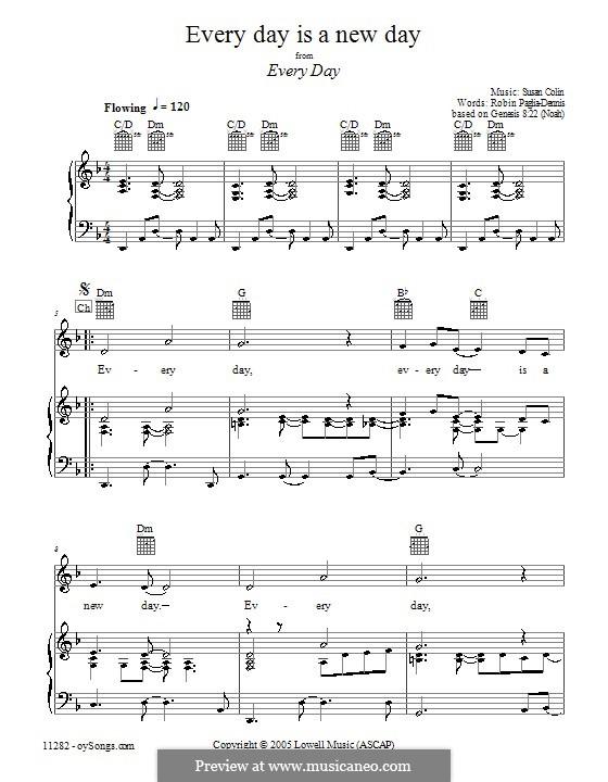 Every Day Is a New Day: Für Stimme und Klavier (oder Gitarre) by Susan Colin