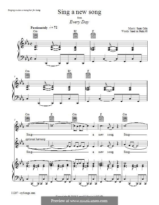 Sing a New Song: Für Stimme und Klavier (oder Gitarre) by Susan Colin