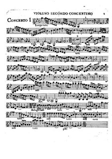 Sechs Konzerte, Op.2: Violino II concertino part by Charles Avison