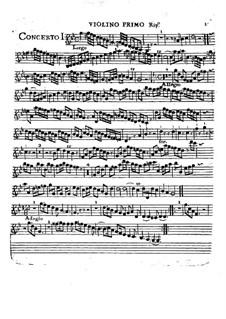 Sechs Konzerte, Op.2: Violino I ripieno part by Charles Avison