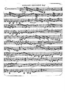 Sechs Konzerte, Op.2: Violino II ripieno part by Charles Avison