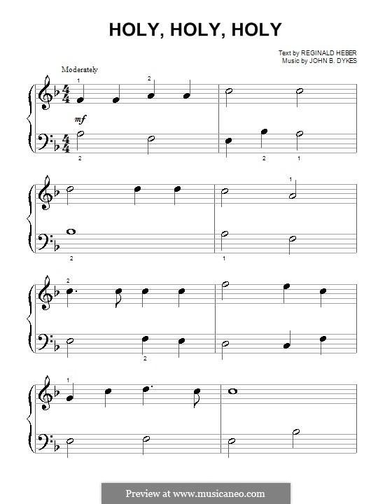 Heilig: Für Klavier (sehr leichte Fassung) by John Bacchus Dykes