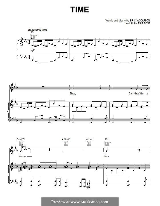 Time (Alan Parsons Project): Für Stimme und Klavier (oder Gitarre) by Alan Parsons, Eric Woolfson