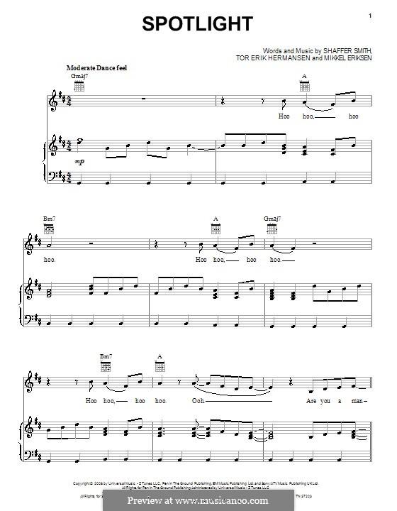 Spotlight: Für Stimme und Klavier (oder Gitarre) by Mikkel Storleer Eriksen, Ne-Yo, Tor Erik Hermansen