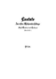 Unser Mund sei voll Lachens, BWV 110: Vollpartitur by Johann Sebastian Bach