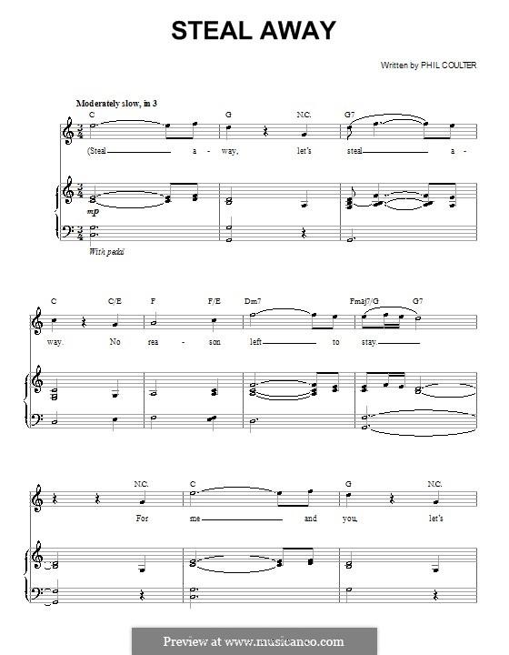 Steal Away (Celtic Thunder): Für Stimme und Klavier (oder Gitarre) by Phil Coulter