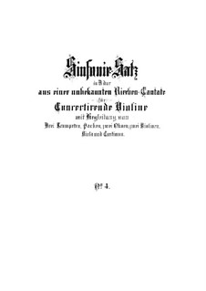 Konzert für Violine, Streicher und Basso Continuo in D-Dur, BWV 1045: Vollpartitur by Johann Sebastian Bach