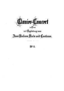 Konzert für Cembalo und Streicher Nr.2 in E-Dur, BWV 1053: Vollpartitur by Johann Sebastian Bach