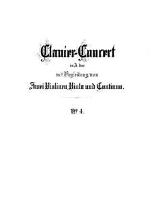 Konzert für Cembalo und Streicher Nr.4 in A-Dur, BWV 1055: Vollpartitur by Johann Sebastian Bach