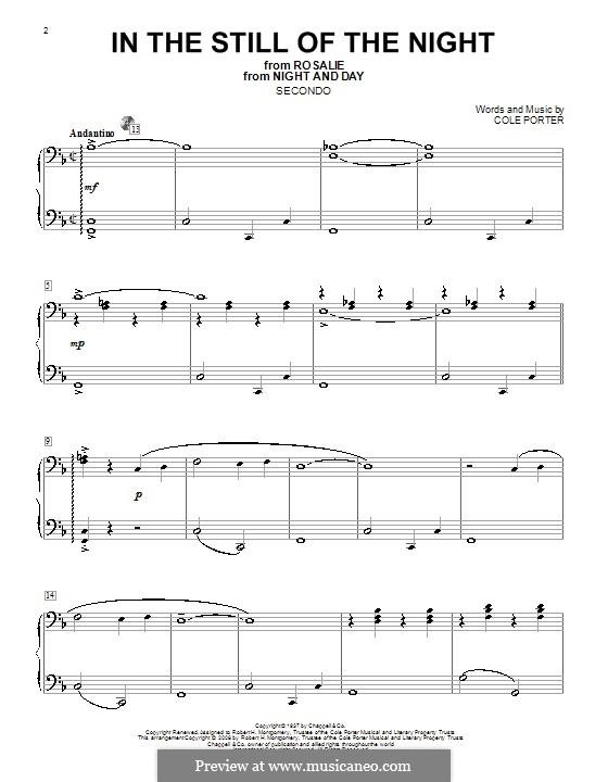 In the Still of the Night: Für Klavier, vierhändig by Cole Porter