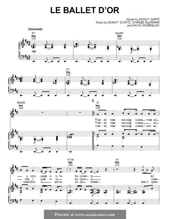 Le Ballet d'Or (Counting Crows): Für Stimme und Klavier (oder Gitarre) by Adam F. Duritz, Charles Gillingham, David Immergluck