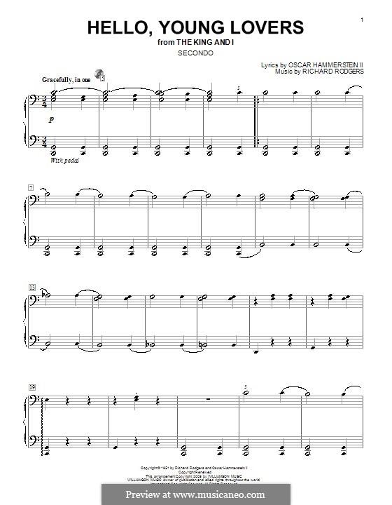 Hello, Young Lovers: Für Klavier, vierhändig by Richard Rodgers