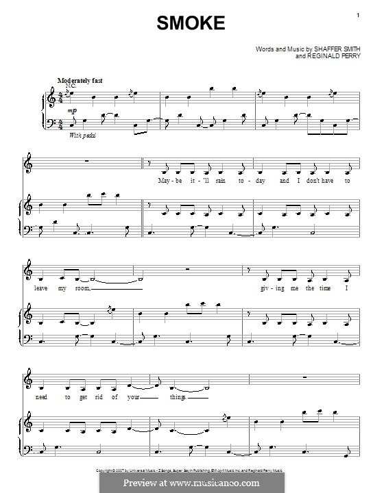 Smoke: Für Stimme und Klavier (oder Gitarre) by Reginald Perry, Ne-Yo