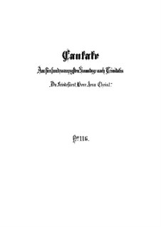 Du Friedefürst, Herr Jesu Christ, BWV 116: Vollpartitur by Johann Sebastian Bach