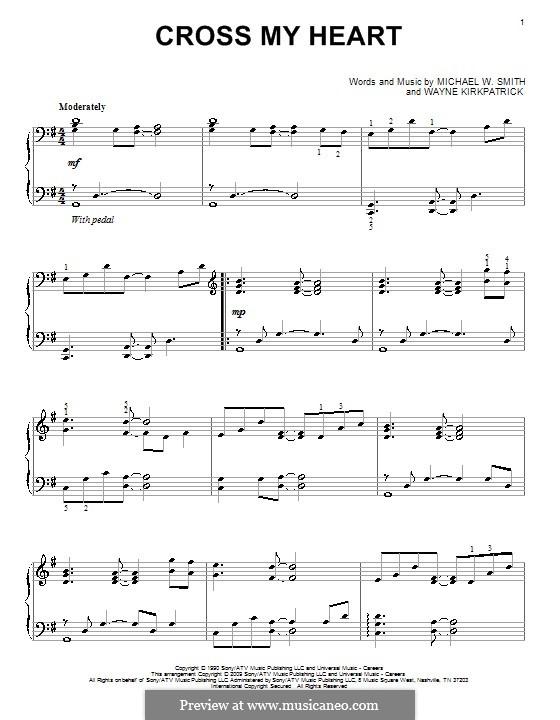 Cross My Heart: Für Klavier by Wayne Kirkpatrick