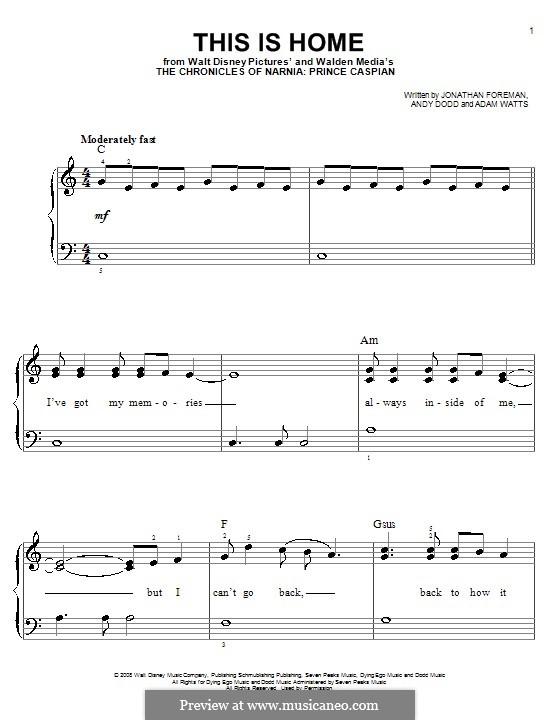 This Is Home (Switchfoot): Für Klavier, leicht by Adam Watts, Andrew Dodd, Jonathan Foreman