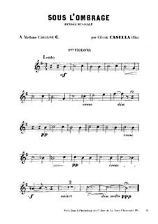 Sous l'Ombrage: Violinstimme I by Cesar Casella