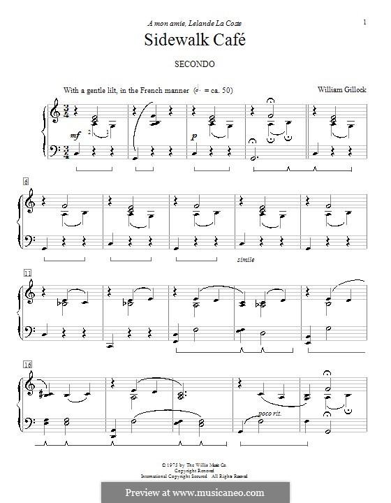 Sidewalk Café: Für Klavier by William Gillock