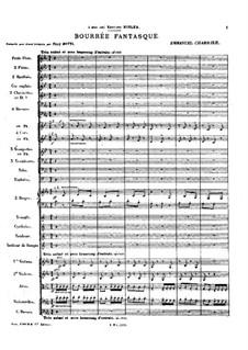 Bourrée fantasque: For symphonic orchestra by Emmanuel Chabrier