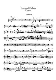 España: Violinstimme I by Emmanuel Chabrier