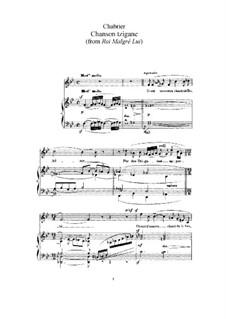 König wider Willen: Chanson tzigane by Emmanuel Chabrier
