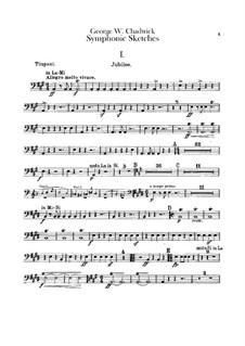 Sinfonische Skizzen: Schlagzeugstimme by George Whitefield Chadwick