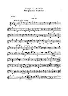 Sinfonische Skizzen: Oboenstimmen I-II by George Whitefield Chadwick