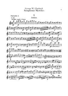 Sinfonische Skizzen: Klarinetten- und Bassklarinettenstimme by George Whitefield Chadwick