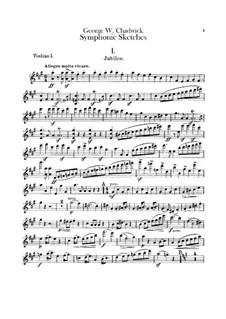 Sinfonische Skizzen: Violinstimme I by George Whitefield Chadwick