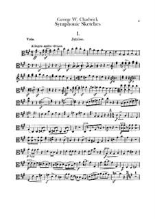Sinfonische Skizzen: Violastimme by George Whitefield Chadwick
