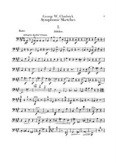 Sinfonische Skizzen: Kontrabass-Stimme by George Whitefield Chadwick