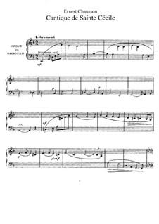 La légende de Sainte Cécile, Op.22: No.7 Cantique de Sainte Cécile by Ernest Chausson