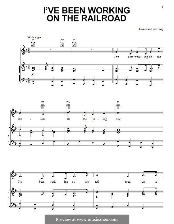 I've Been Working on the Railroad: Für Stimme und Klavier (oder Gitarre) by folklore