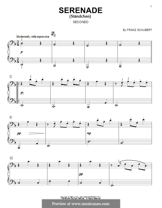 Nr.4 Ständchen: Für Klavier by Franz Schubert